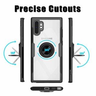 Ntech Ntech Samsung Galaxy Note 10 Luxe TPU Magnetic Ring houder - Zwart