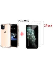Ntech Ntech Apple iPhone 11 Pro Anti Shock Hoesje + 2X Screenprotector