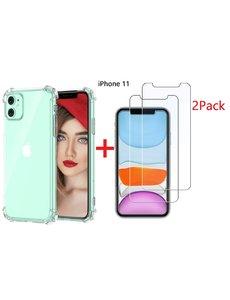 Ntech Ntech Apple iPhone 11 Anti Shock Hoesje + 2X Screenprotector