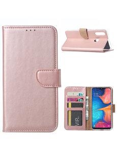 Ntech Ntech Samsung Galaxy A20s Portemonnee / Booktype hoesje - Rose Goud