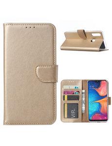 Ntech Ntech Samsung Galaxy A20s Portemonnee / Booktype hoesje - Goud