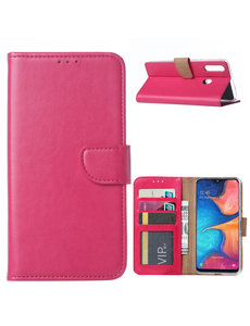 Ntech Ntech Samsung Galaxy A20s Portemonnee / Booktype hoesje - Roze