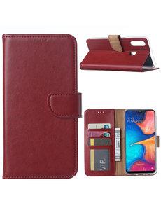 Ntech Ntech Samsung Galaxy A20s Portemonnee / Booktype hoesje - Bordeaux
