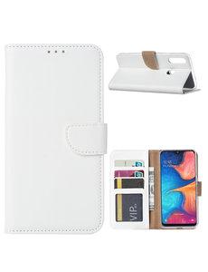 Ntech Ntech Samsung Galaxy A20s Portemonnee / Booktype hoesje - Wit