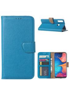 Ntech Ntech Samsung Galaxy A20s Portemonnee / Booktype hoesje - Turquoise