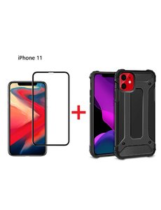 Ntech Apple iPhone 11 Screen Protecter Zwart + Armor Hoesje - Ntech