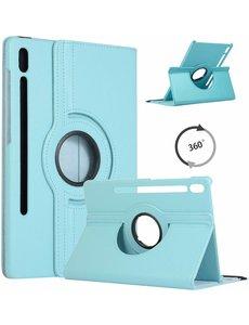 Ntech Samsung Galaxy Tab S6 360° Draaibare Hoes - Turquoise Ntech