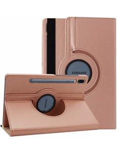 Ntech Samsung Galaxy Tab S6 360° Draaibare Hoes - Rose Goud Ntech
