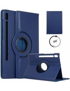 Ntech Samsung Galaxy Tab S6 360° Draaibare Hoes - Blauw Ntech