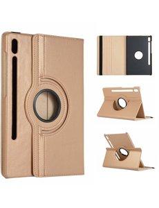 Ntech Samsung Galaxy Tab S6 360° Draaibare Hoes - Gold Ntech