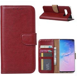 Ntech Samsung Galaxy S10e Portemonnee Hoesje - Bordeaux Ntech