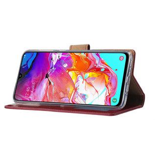Ntech Samsung Galaxy S10 Plus Portemonnee Hoesje - Bordeaux Ntech