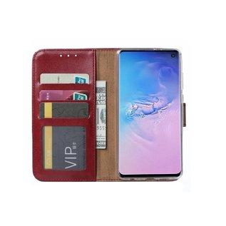 Ntech Samsung Galaxy S10 Portemonnee Hoesje - Bordeaux Ntech