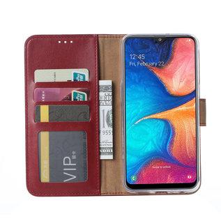 Ntech Samsung Galaxy A20e Portemonnee Hoesje - Bordeaux Ntech