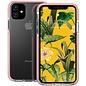 Ntech Apple iPhone 11 Anti Shock Hoesje - Roze & Transparant Ntech