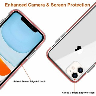 Ntech Apple iPhone 11 Anti Shock Hoesje - Rood & Transparant - Ntech