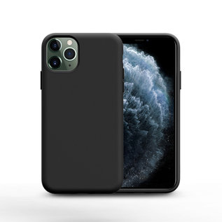 Ntech Nano Silicone Back Hoesje Apple iPhone 11 Pro Max - Zwart Ntech
