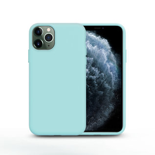 Ntech Nano Silicone Back Hoesje Apple iPhone 11 Pro Max - Mint Groen Ntech