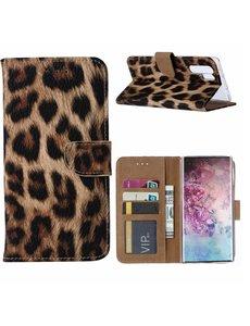 Ntech Samsung Galaxy Note 10 Plus Portemonnee Hoesje - Luipaard Ntech