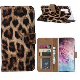 Merkloos Samsung Galaxy Note 10 Plus Portemonnee Hoesje - Luipaard Ntech