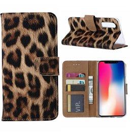 Merkloos Apple iPhone 11 Portemonnee Hoesje - Luipaard Ntech