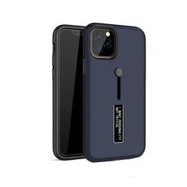 Ntech Apple iPhone 11 Pro Max Lazy finger Ringhouder TPU - Blauw Ntech