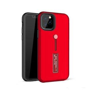 Ntech Apple iPhone 11 Pro Max Lazy finger Ringhouder TPU - Rood Ntech