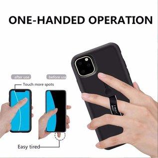 Ntech Apple iPhone 11 Pro Lazy finger Ringhouder TPU - Zwart Ntech