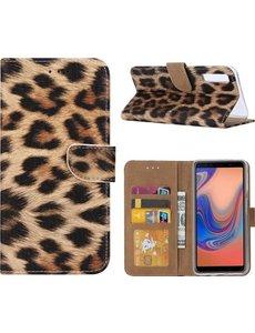 Ntech Luipaard Design Portemonnee Hoesje Met Pasjesruimte & Magneet flapje - Samsung Galaxy A50s/A30s