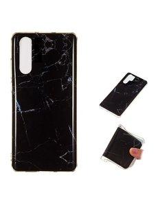 Ntech Samsung Galaxy A50s/A30s Marmer Design backcover Hoesje - Zwart kleur