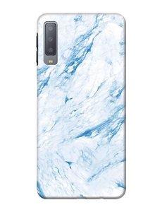 Ntech Samsung Galaxy A50s/A30s Marmer Design backcover Hoesje - Blauw kleur