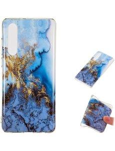Ntech Samsung Galaxy A50s/A30s Art Marmer Design backcover Hoesje - Multi kleur