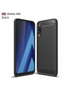 Ntech Soft Brushed TPU Hoesje voor Samsung Galaxy A50s/A30s - Matt Zwart