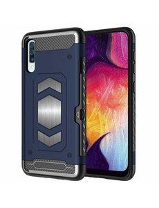 Ntech Luxe Armor Hoesje - Samsung Galaxy A50s/A30s - Blauw