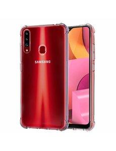 Ntech Samsung Galaxy A20s Anti Shock Hoesje -Transparant