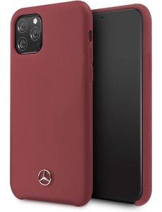 Mercedes-Benz Apple iPhone 11 Pro Rood Mercedes-Benz Backcover hoesje Liquid - Microfiber - MEHCN58SILRE