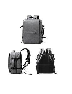 Ntech Luxe Rugtas & Reistas Combi Waterproof Anti Scheur/Diefstal Backpack Grijs