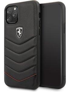 Ferrari Apple iPhone 11 Pro Zwart Ferrari Backcover hoesje Quilted - Hard - FEHQUHCN58BK