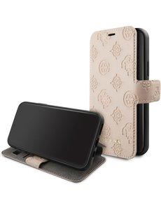 Guess Apple iPhone 11 Pro Roze Guess Booktype hoesje 4G Peony - PU Leather - GUFLBKSN58PELLP