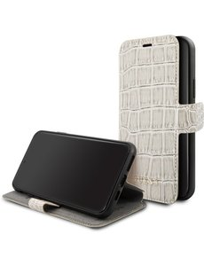 Guess iPhone 11 Pro Bookcase hoesje - Guess - Croco Beige - Kunstleer