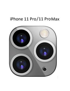 Ntech Apple iPhone 11 Pro (Max) Camera Lens Metal Protector - Zilver