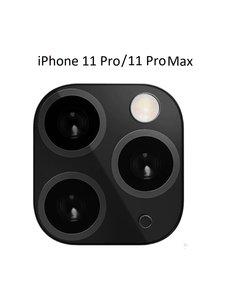 Ntech Apple iPhone 11 Pro (Max) Camera Lens Metal Protector - Zwart