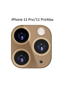 Ntech Apple iPhone 11 Pro (Max) Camera Lens Metal Protector - Goud