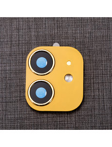 Ntech Apple iPhone 11 Camera Lens Metal Protector - Goud