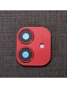 Ntech Apple iPhone 11 Camera Lens Metal Protector - Rood
