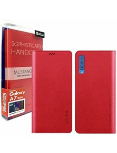 Araree Samsung Galaxy A7 (2018) Araree Mustang Diary Portemonnee Hoesje - Rood