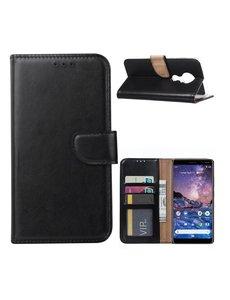 Ntech Nokia 6.2 / Nokia 7.2 Portemonnee hoesje / Boek hoesje - Zwart