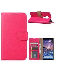 Ntech Nokia 6.2 / Nokia 7.2 Portemonnee hoesje / Boek hoesje - Roze/Pink