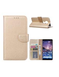 Ntech Nokia 6.2 / Nokia 7.2 Portemonnee hoesje / Boek hoesje - Goud