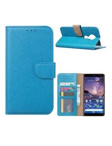 Ntech Nokia 6.2 / Nokia 7.2 Portemonnee hoesje / Boek hoesje - Turquoise